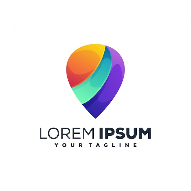 Impresionante logotipo de gradiente de pin