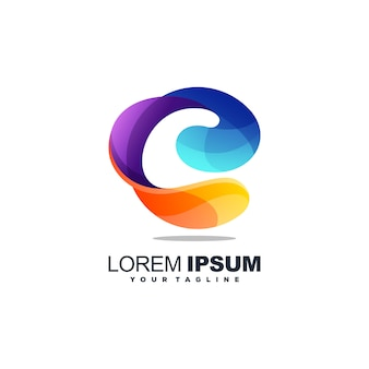 Impresionante logotipo de la letra c