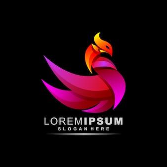 Impresionante logotipo de phoenix abstracto