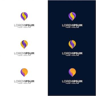 Impresionante logotipo de pin