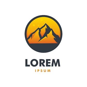Impresionante mountain logo premium