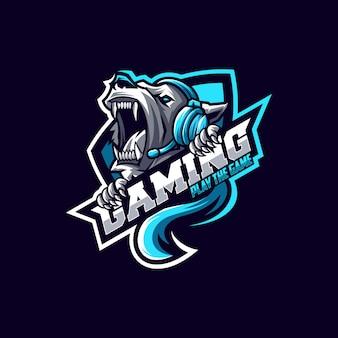 Impresionante oso logo diseño vectorial