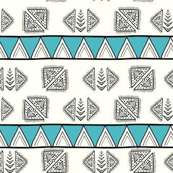 Impresionante patrón azteca con dibujado a mano creativo