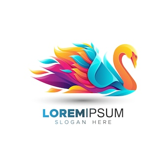 Impresionante plantilla de logotipo de ganso