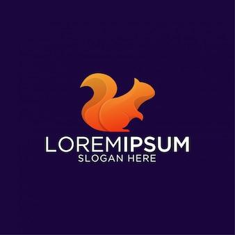 Impresionante plantilla de logotipo premium de ardilla moderna