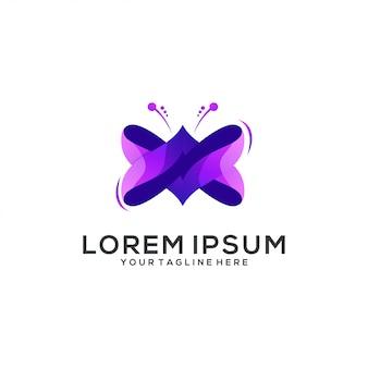 Impresionante resumen de logotipo de mariposa