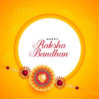 Impresionante tarjeta de festival raksha bandhan con rakhi