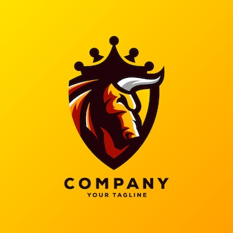 Impresionante toro logo diseño vectorial