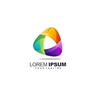 Impresionante vector de diseño de logotipo de medios