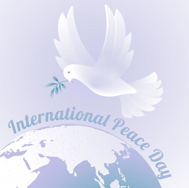 Imprimir el día internacional de la paz.