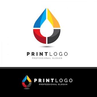 Imprimir tinta-forma-logo