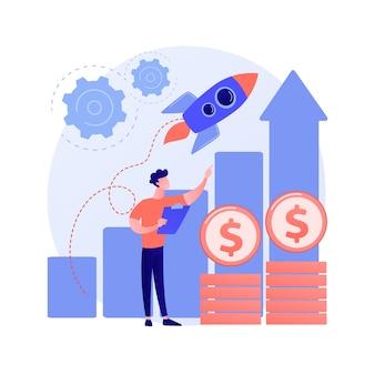 Impulsar la ilustración del concepto abstracto de ventas