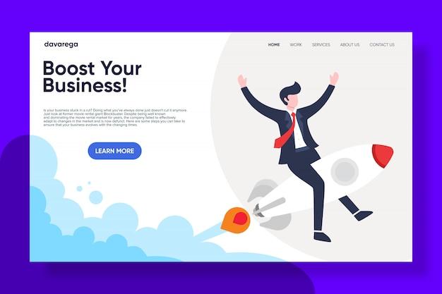 Impulse la página de destino de su negocio
