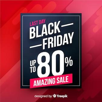 Increíble banner de viernes negro de venta