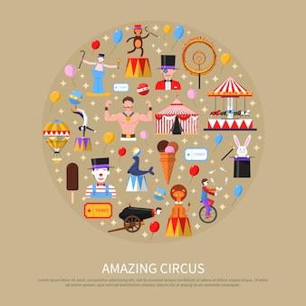 Increíble concepto de circo