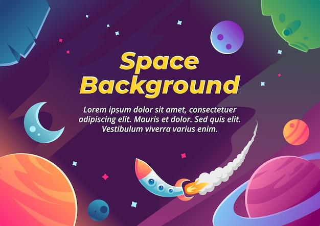 Increíble fondo de ilustración del espacio exterior