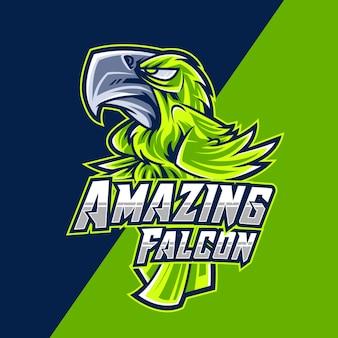 Increíble logotipo de falcon esport