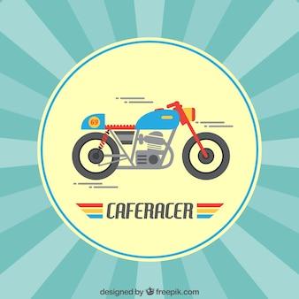 Increíble motocicleta a toda velocidad