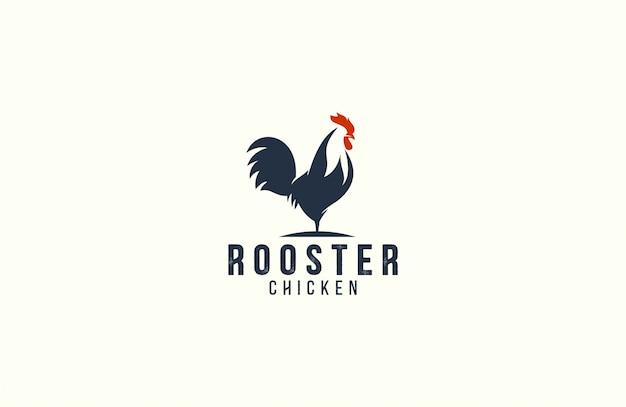 Increíble plantilla de logotipo de gallo