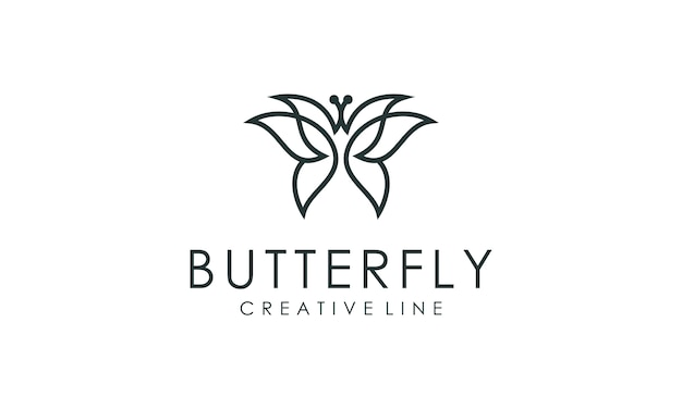 Increíble vector de contorno de logotipo de mariposa