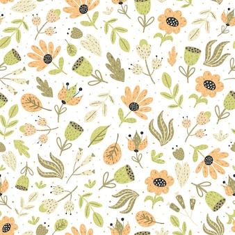 Increíbles flores de patrones sin fisuras