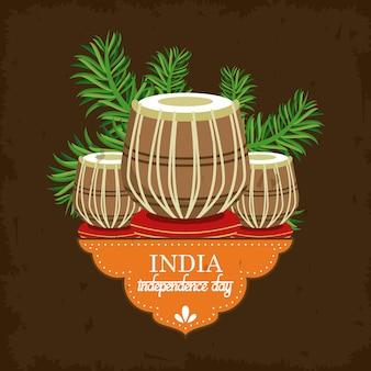 India día de la independencia tarjeta colorida