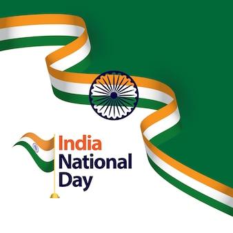 India día nacional vector plantilla diseño ilustración