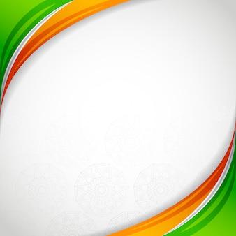 India tarjeta de marco en blanco día de la independencia
