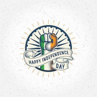 India vector premium día de la independencia