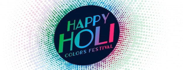 Indio feliz holi festival tradicional banner
