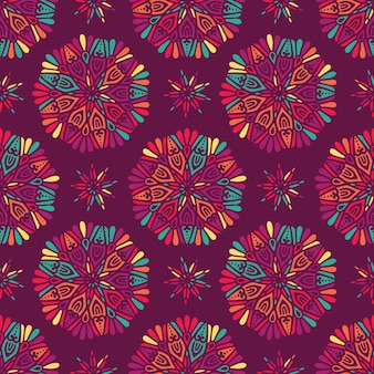 Indio floral patrón de paisley medallón
