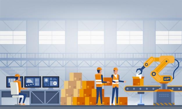 Industria, concepto de fábrica inteligente.