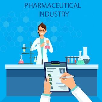 La industria farmacéutica. experiencia química