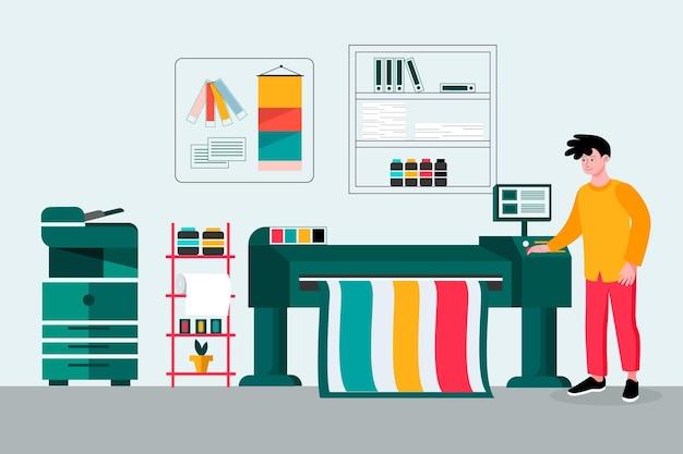 Industria de impresión de planos orgánicos