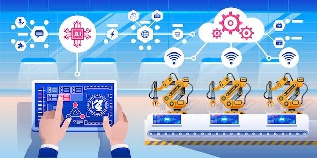 Industria inteligente 4.0 infografía.