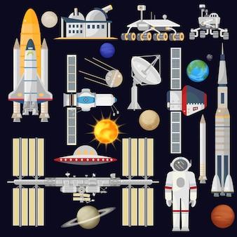 Industria de naves espaciales y tecnología espacial.