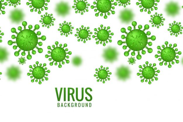 Infección por virus o diseño de concepto de bacterias