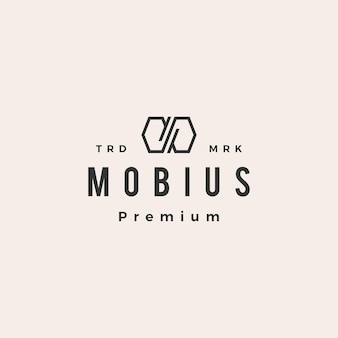 Infinito mobius hipster vintage logo
