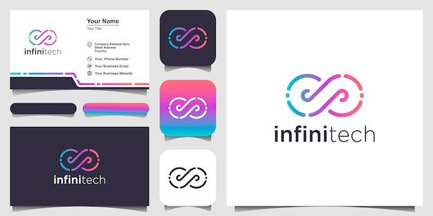 Infinity logo y tarjeta de visita