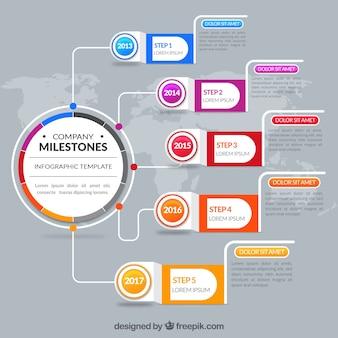 Infografía abstracta de empresa