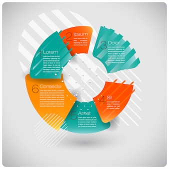 Infografía abstracta de formas modernas