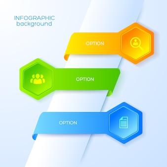 Infografía abstracta de negocios