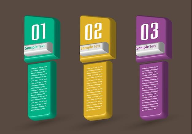Infografía de banner de plantilla de cuadro de texto moderno