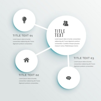 Infografía blanca con formas circulares
