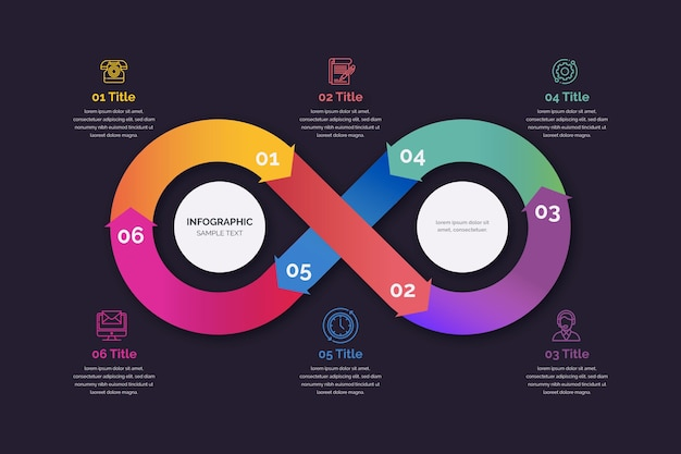Infografía de bucle infinito