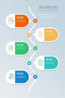 Infografía de burbujas de discurso plano