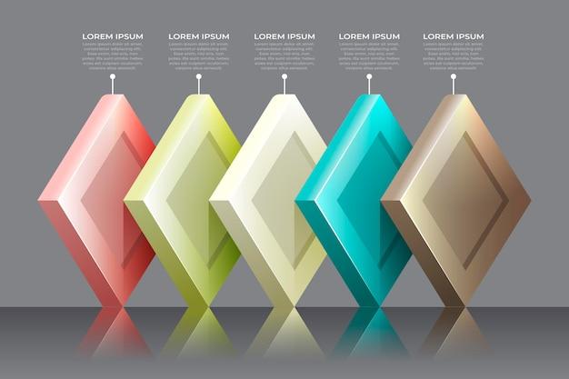 Infografía de capas de bloque