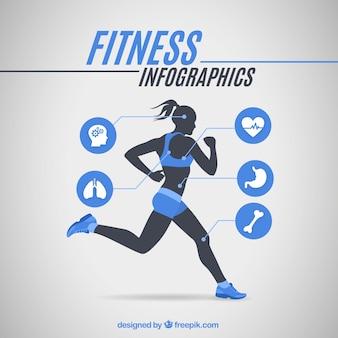 Infografía de chica corredora
