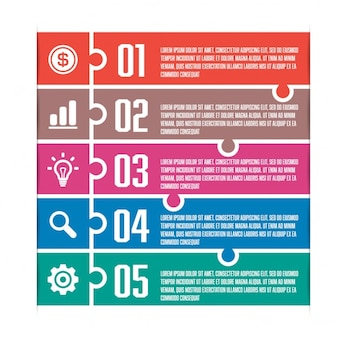 Infografía con cinco opciones