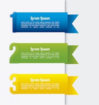 Infografía de cintas sobre fondo blanco